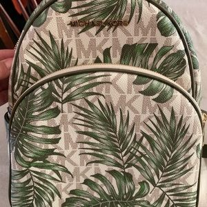 Michael Kors Abbey Tropical Palms Backpack